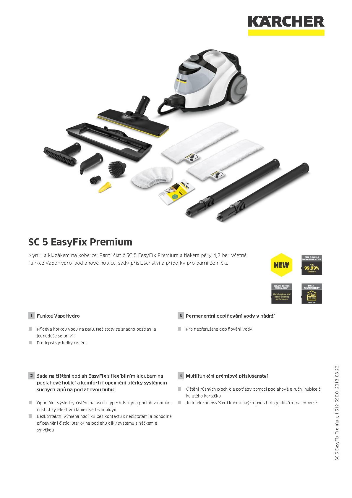 k rcher sc 5 easyfix premium parn isti k rcher center rea. Black Bedroom Furniture Sets. Home Design Ideas
